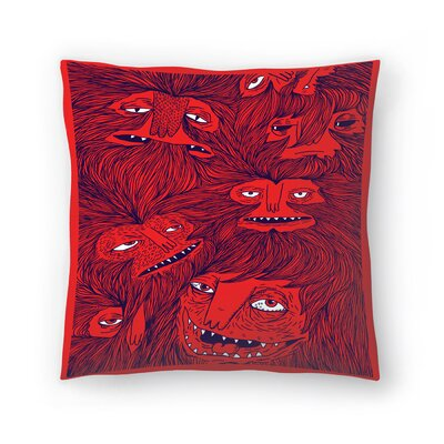 Joe Van Wetering Hairwolves Throw Pillow Size: 18 x 18