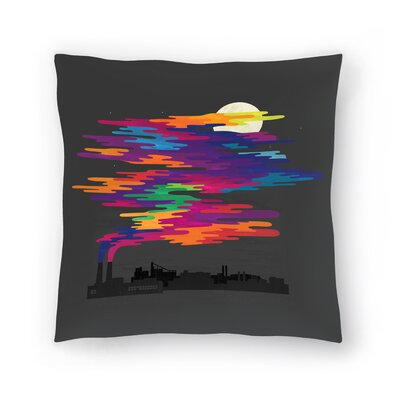 Joe Van Wetering Hidden in the Night Smog Throw Pillow Size: 18 x 18