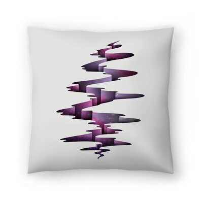 Joe Van Wetering Tectonic Wormhole Throw Pillow Size: 20 x 20