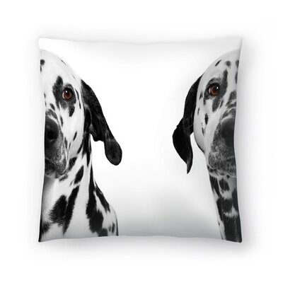 Maja Hrnjak Dalmatian Dog3 Throw Pillow Size: 16 x 16