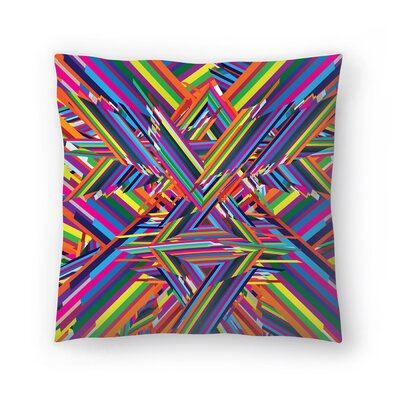 Joe Van Wetering The Shattering Throw Pillow Size: 20 x 20