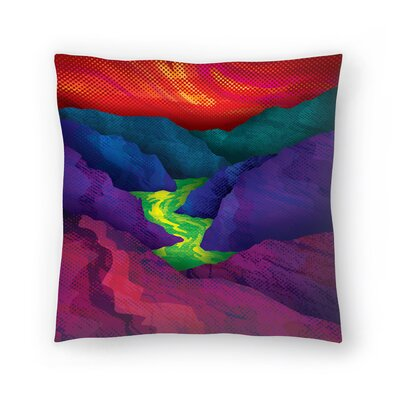 Joe Van Wetering Up Stream Throw Pillow Size: 18 x 18