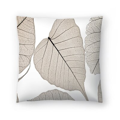 Maja Hrnjak Leaves3 Throw Pillow Size: 16 x 16