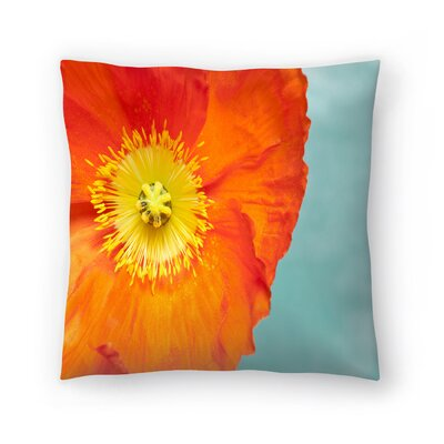 Maja Hrnjak Poppy Flower 4 Throw Pillow Size: 20 x 20