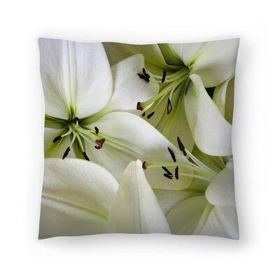 Maja Hrnjak Lilies Throw Pillow Size: 14 x 14