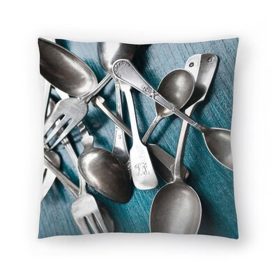 Maja Hrnjak Spoons Throw Pillow Size: 16 x 16