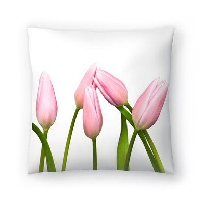 Maja Hrnjak Tulips Throw Pillow Size: 16