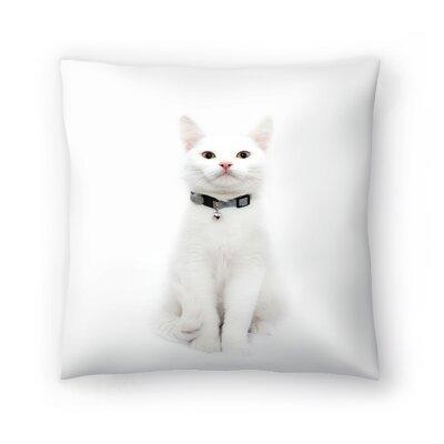 Maja Hrnjak Cat Throw Pillow Size: 18 x 18