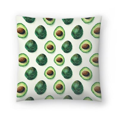Tracie Andrews Avocado Pattern Throw Pillow Size: 18 x 18