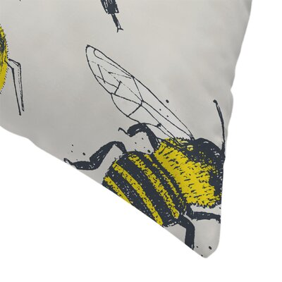 Bees Throw Pillow Size: 18 x 18