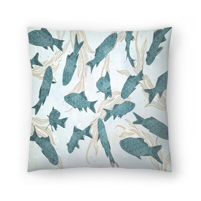 Tracie Andrews Fish Throw Pillow Size: 20 x 20