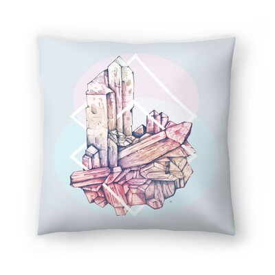Tracie Andrews Crystalline 2 Throw Pillow Size: 18 x 18