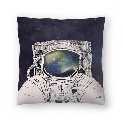 Dreaming of Space Throw Pillow Size: 16 x 16