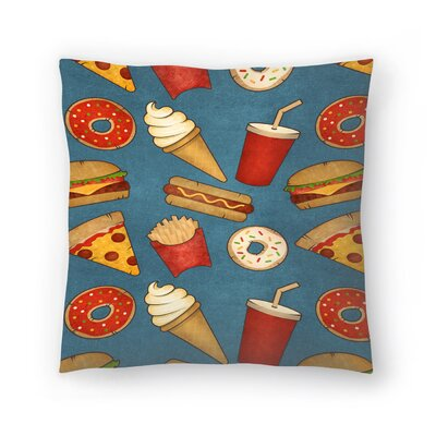 Tracie Andrews Fast Food Throw Pillow Size: 16 x 16