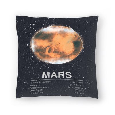 Tracie Andrews Mars Throw Pillow Size: 18 x 18