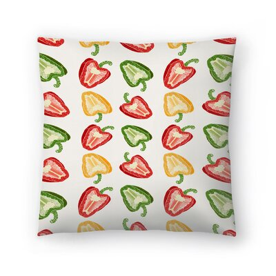 Tracie Andrews Mixed Peppers Pattern Throw Pillow Size: 14 x 14