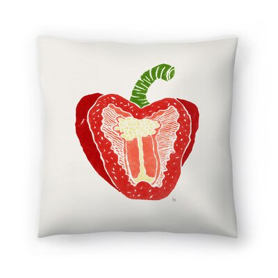 Tracie Andrews Pepper Throw Pillow Size: 16 x 16