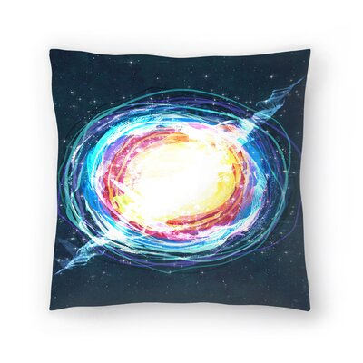 Supernova Throw Pillow Size: 18 x 18