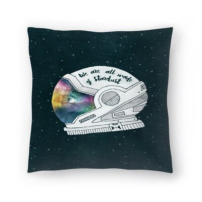Tracie Andrews We are All Made of Stardust Throw Pillow Size: 14 x 14