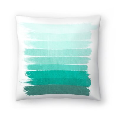 Charlotte Winter Ombre Throw Pillow Size: 18 x 18