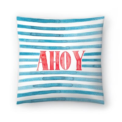 Elena ONeill Ahoy Throw Pillow Size: 16 x 16