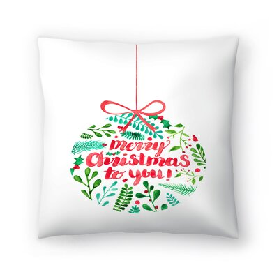 Elena ONeill Merry Christmas Throw Pillow Size: 18 x 18