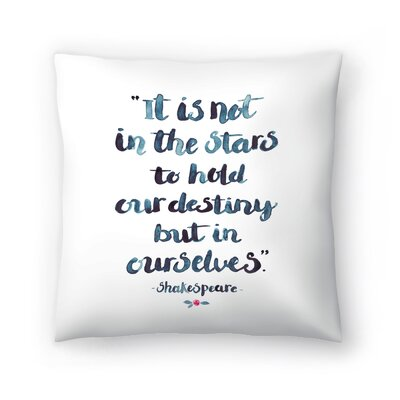 Elena ONeill Skakespeare Quote Throw Pillow Size: 18 x 18