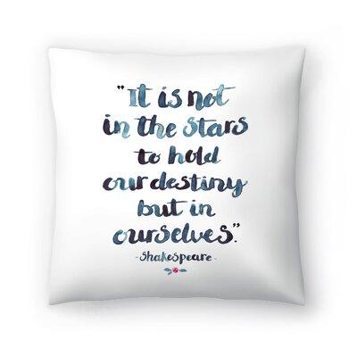 Elena ONeill Skakespeare Quote Throw Pillow Size: 16 x 16