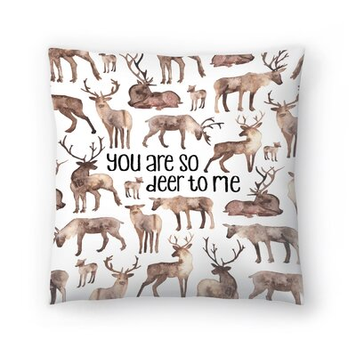 Elena ONeill You are so Deer to Me Throw Pillow Size: 14 x 14