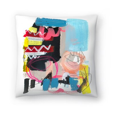 Olimpia Piccoli Little Ruin Throw Pillow Size: 14 x 14