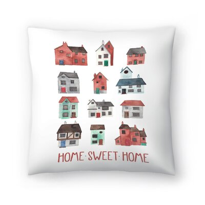 Elena ONeill Home Sweet Home Throw Pillow Size: 16 x 16