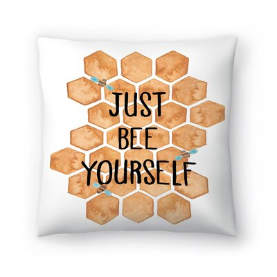 Elena ONeill Just Bee Yourself Throw Pillow Size: 14 x 14