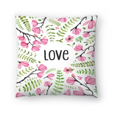 Elena ONeill Love Floral Throw Pillow Size: 18 x 18