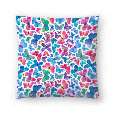 Elena ONeill Butterflies Throw Pillow Size: 18 x 18