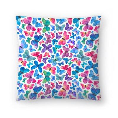 Elena ONeill Butterflies Throw Pillow Size: 20 x 20