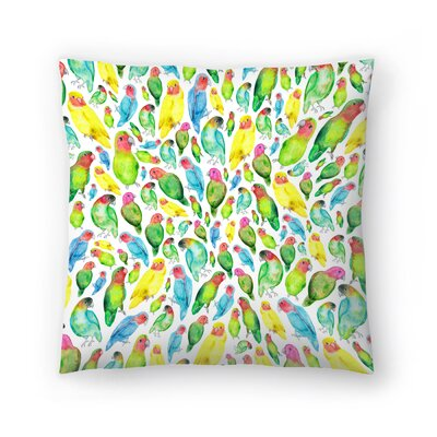 Elena ONeill Love Birds Throw Pillow Size: 14 x 14