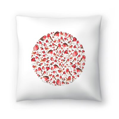 Elena ONeill Robin Circle Throw Pillow Size: 14 x 14
