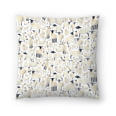 Elena ONeill Sheep Throw Pillow Size: 18 x 18