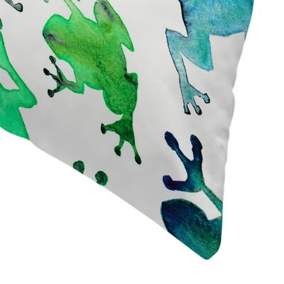 Elena ONeill Tree Frogs Throw Pillow Size: 16 x 16