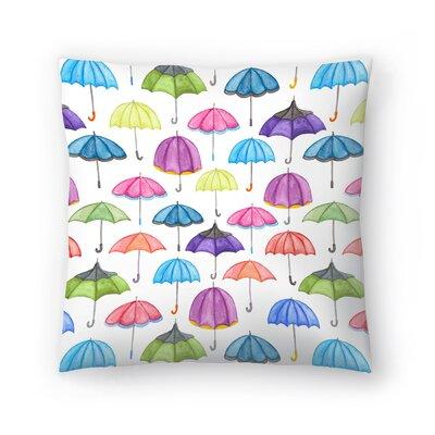 Elena ONeill Umbrellas Throw Pillow Size: 16 x 16