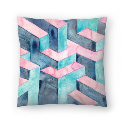 Elena ONeill Watercolour Illusion Throw Pillow Size: 18 x 18