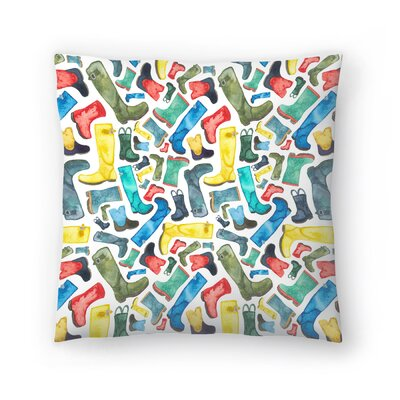 Elena ONeill Wellies Throw Pillow Size: 18 x 18