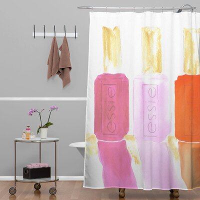 Essie Shower Curtain Color: Pink