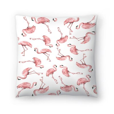 Jetty Printables Flamingo Throw Pillow Size: 14 x 14