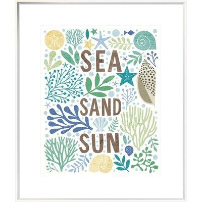 'Under Sea Treasures III Sea Glass' Textual Art ETUM7786 42808116