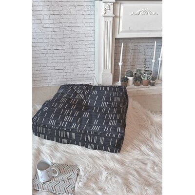 Holli Zollinger Bogo Denim Mudcloth Floor Pillow Size: 26 x 26