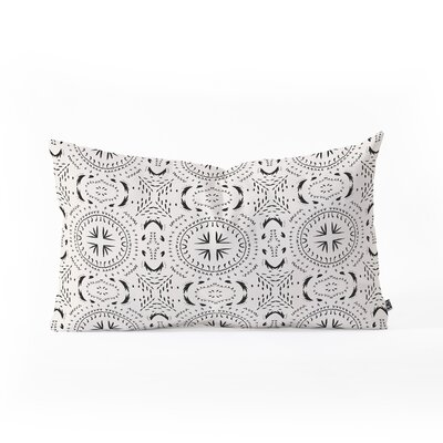 Holli Zollinger Mandala Tile Light Outdoor Lumbar Pillow Size: 14 x 23
