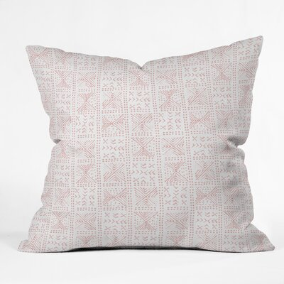 Dash and Ash Rose Bud Mud Cloth Throw Pillow Size: 16 H x 16 W