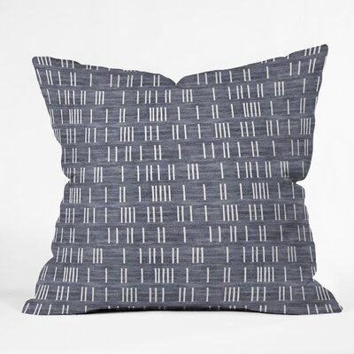 Holli Zollinger Bogo Denim Mudcloth Light Throw Pillow Size: 18 x 18