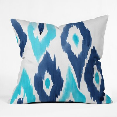 Natalie Baca Malibu Blue Ikat Throw Pillow Size: 18 x 18